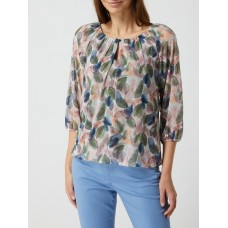 BETTY & CO WHITE Shirt mit Allover-Muster Olivgrün NTFMAMFWSO